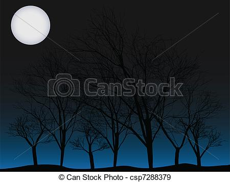 Lunar clipart creepy Full csp7288379 Creepy trees EPS