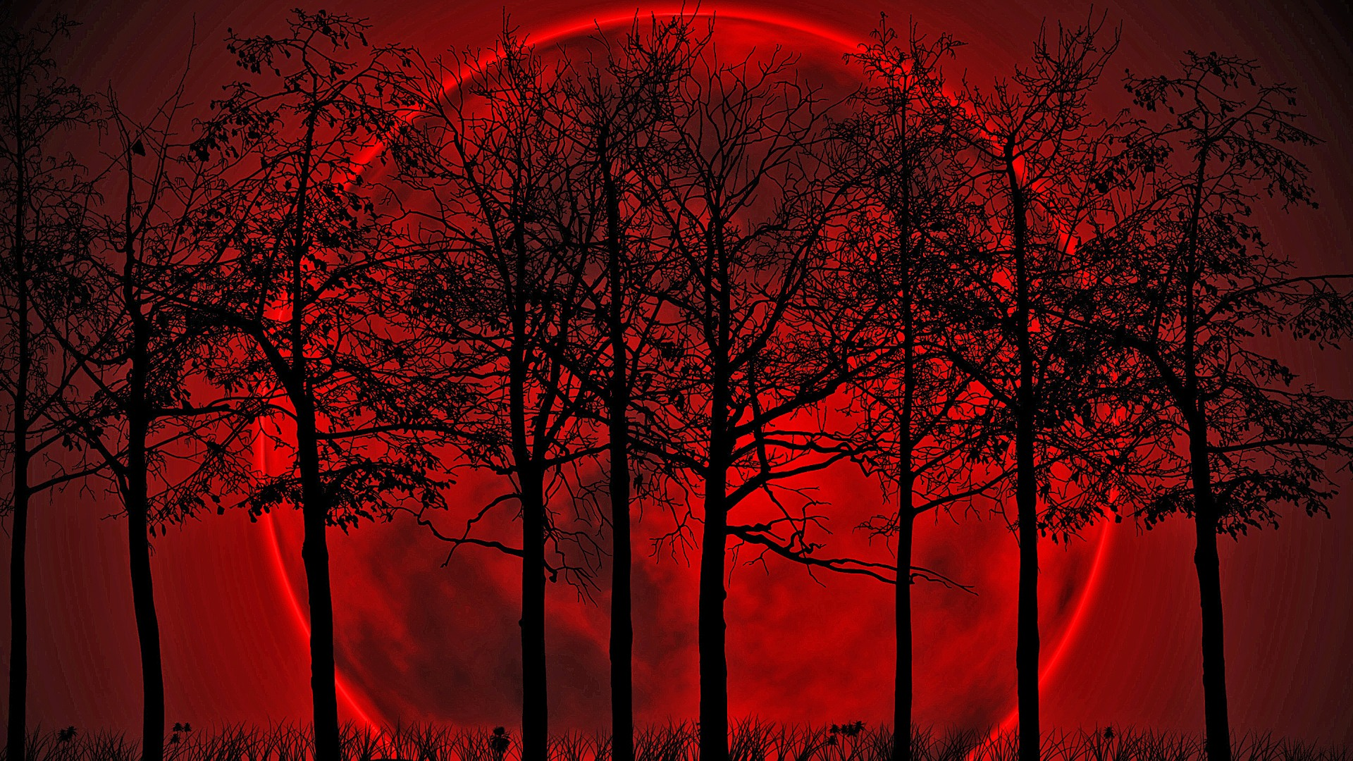 Lunar clipart creepy Blood Blood Moon Moon Download
