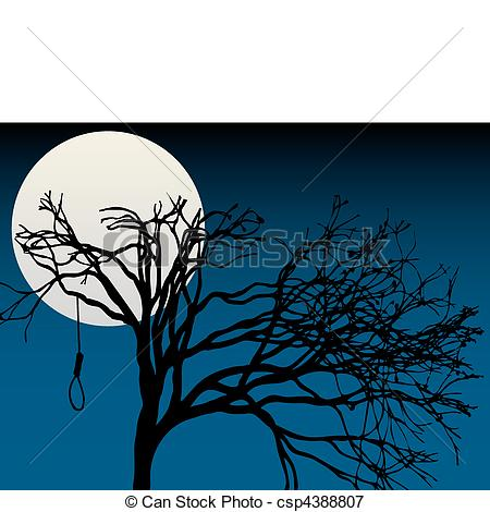 Lunar clipart creepy Full tre Creepy trees EPS