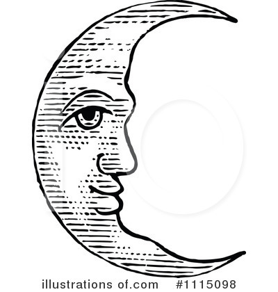 Moon clipart illustration #9