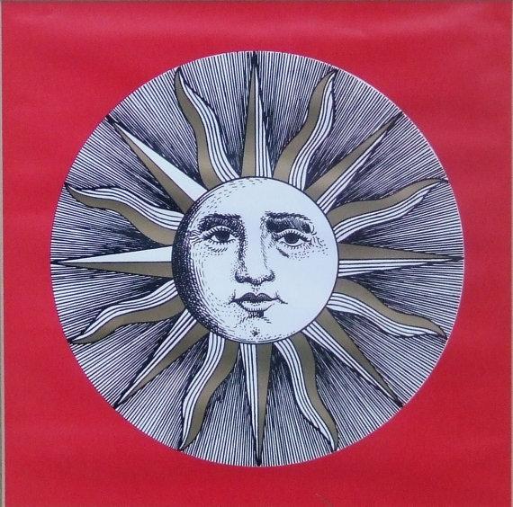 Moon clipart fornasetti VI Face Sun SALE Face