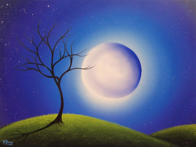 Lunar clipart goodnight moon Full Print Art Landscape Art