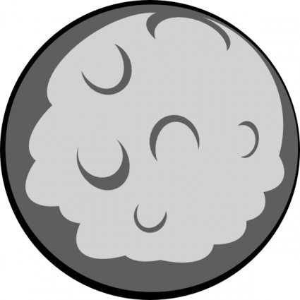 Planets clipart grey #1