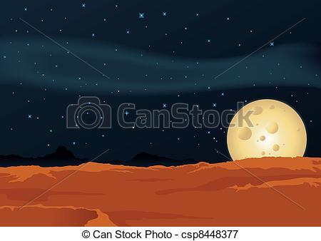 Lunar clipart ground Of Illustration Lunar Desert