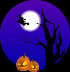 Raven clipart halloween full moon #2
