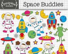 Planets clipart spaceship No Vintage clipart Items Digital