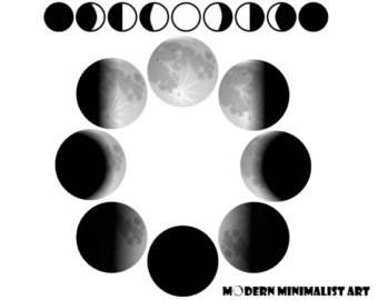 Moon clipart phase the moon #1