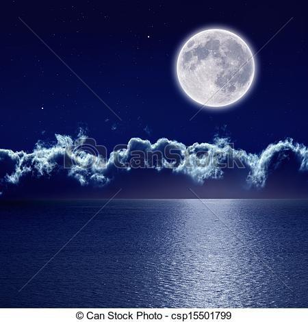 Moonlight clipart Best moon images full csp15501799