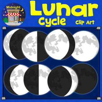 Lunar clipart new moon Phases Art to e Terra