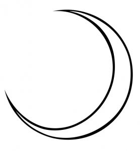 Spooky clipart crescent moon Waxing Moon 8 Art Clip