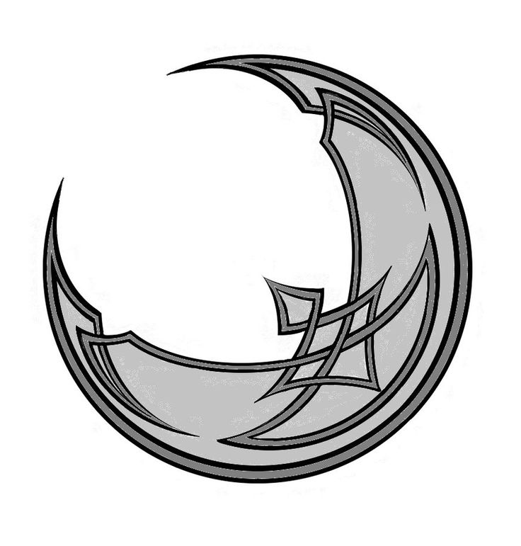 Moon clipart outline #11