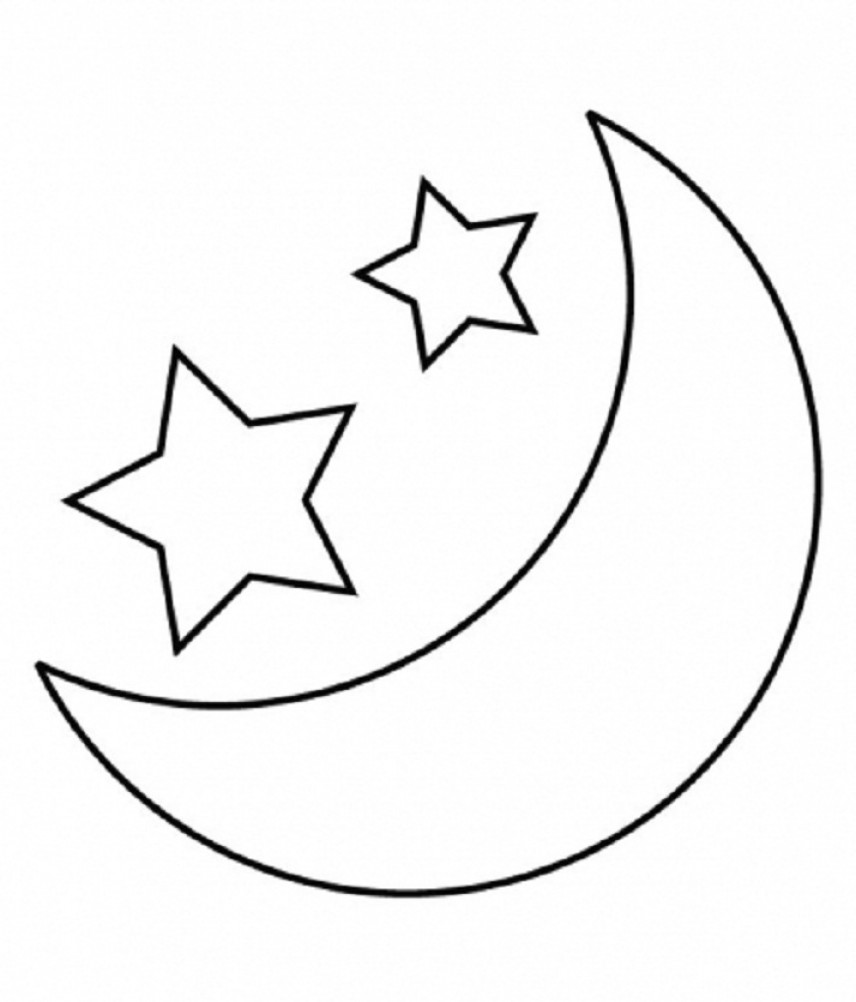 Moon clipart outline #10