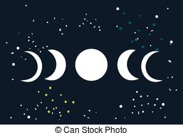 Lunar clipart phase the moon 823 EPS Vector Moon