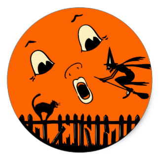 Lunar clipart round Round Halloween Full Moon and
