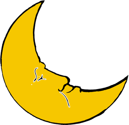 Lunar clipart shaped Cradle half shaped Cliparts moon