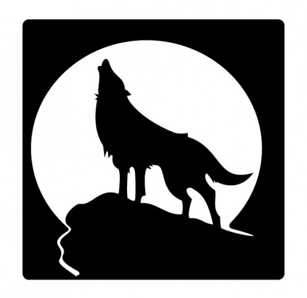 White Wolf clipart wolf silhouette #8