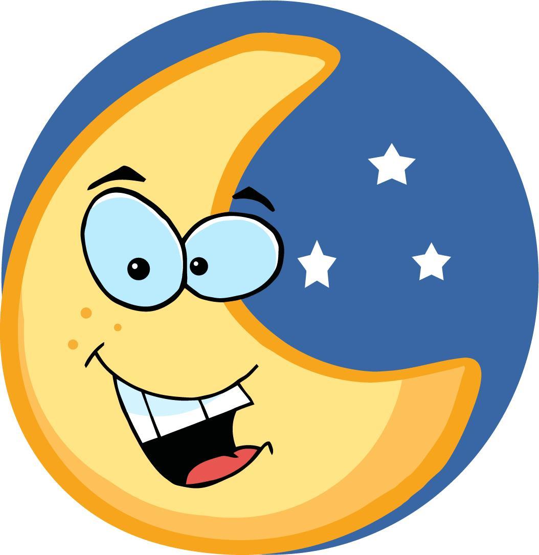 Moon clipart happy #1