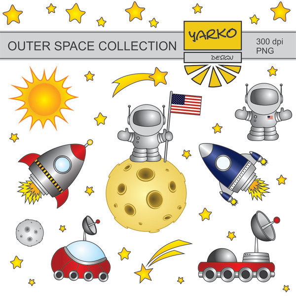 Moon clipart space #5