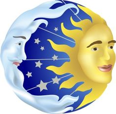 Moon clipart round And SUN SUN Rock AND