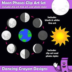 Lunar clipart teacher Out and Phases Moon Copy