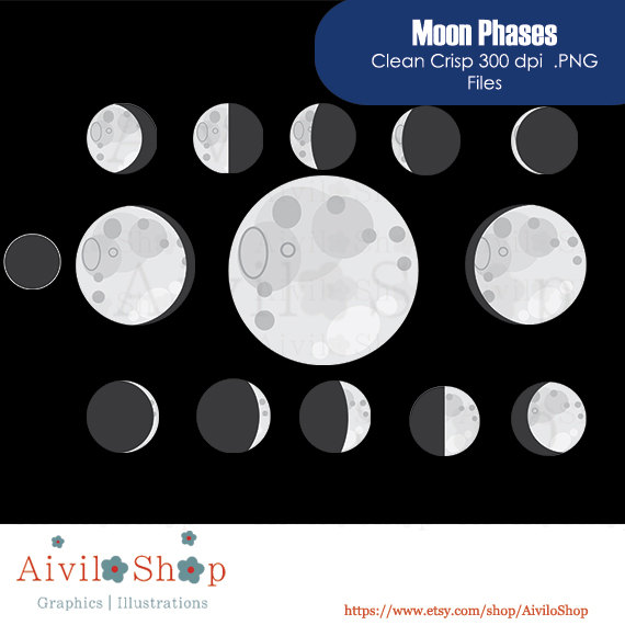 Moon clipart phase the moon #3
