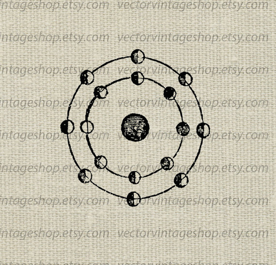 Lunar clipart victorian Phases Antique Diagram Antique Science