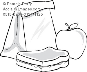 Sandwich clipart packed lunch Black Bag Sack And collection