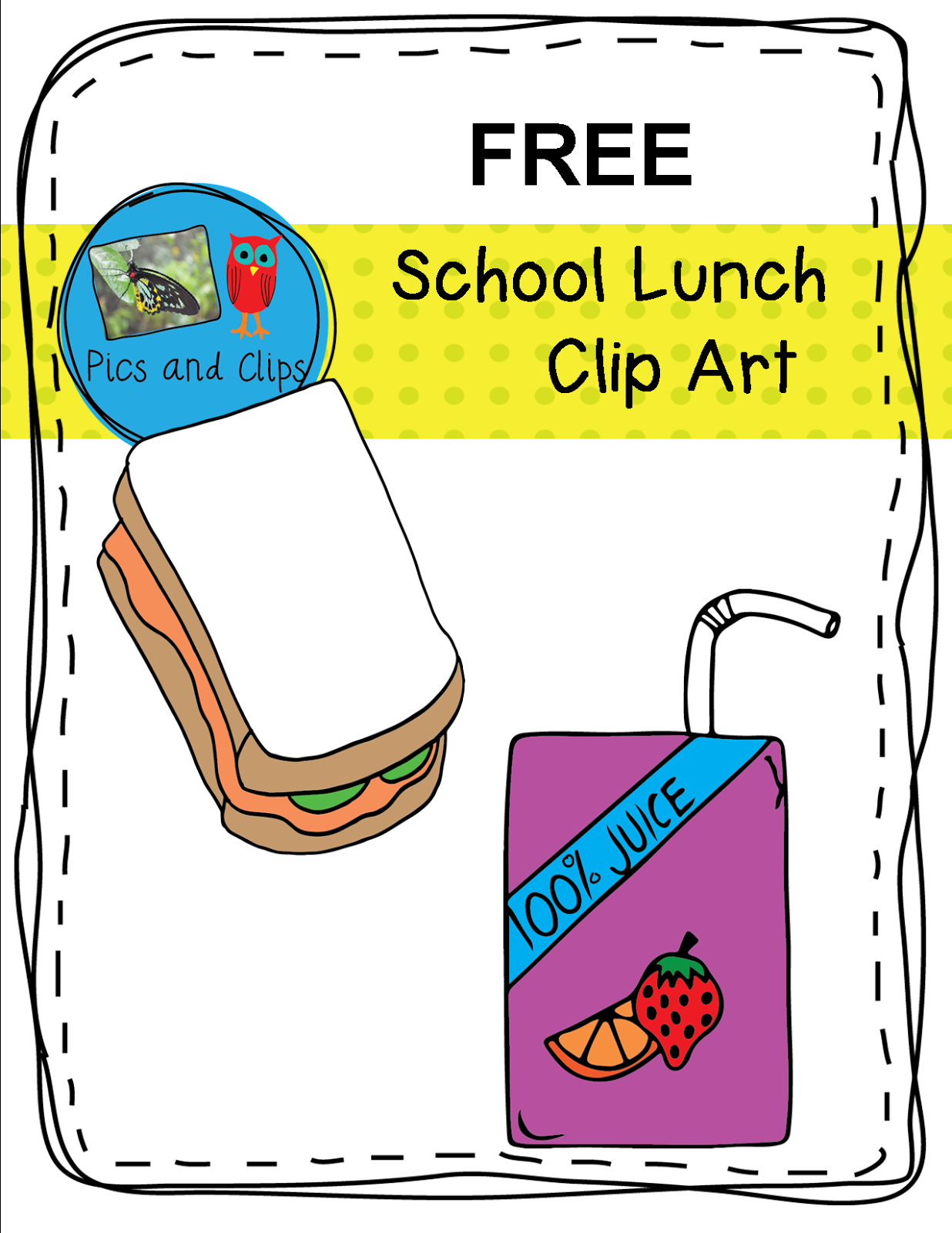 Cafeteria clipart lunch menu School Art Lunch School Math
