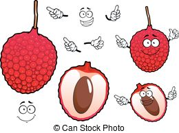 Lychee clipart Lychee vector  Litchi exotic
