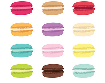 Macaron clipart INSTANT Commercial DOWNLOAD & Use