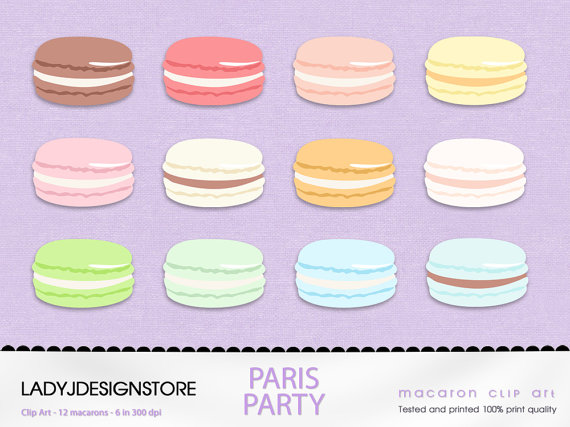 Macaron clipart Invitations Food  Digital Clip