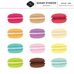 Macaron clipart INSTANT Commercial Clipart DOWNLOAD &