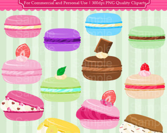 Macaron clipart Use and Cliparts Commercial Personal