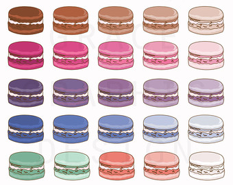 Macaron clipart Small Macaron Commercial Illustrated Clipart