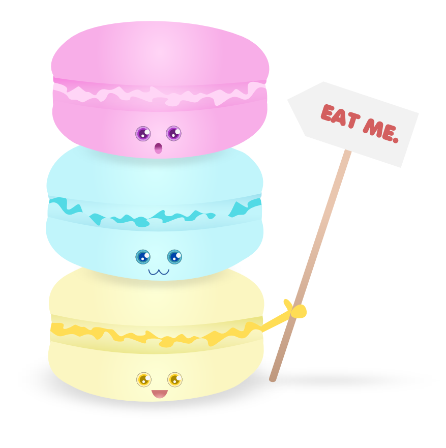 Macaron clipart cute On by this more gorjuss
