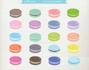 Macaron clipart cute Party Macaroon clip baking making