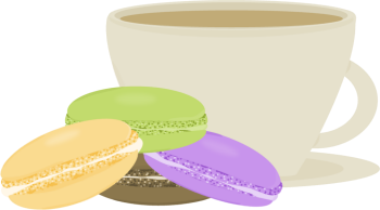 Macaron clipart cute Macarons and and Macarons Coffee
