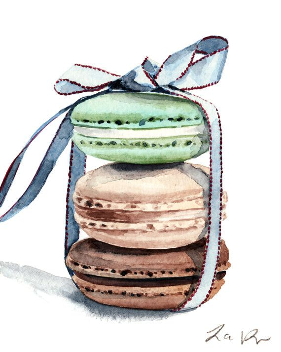 Macaron clipart cute Macaron on Painting Macarons Pretty