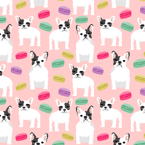 Macaron clipart french bakery Bulldog sweets french french pastel
