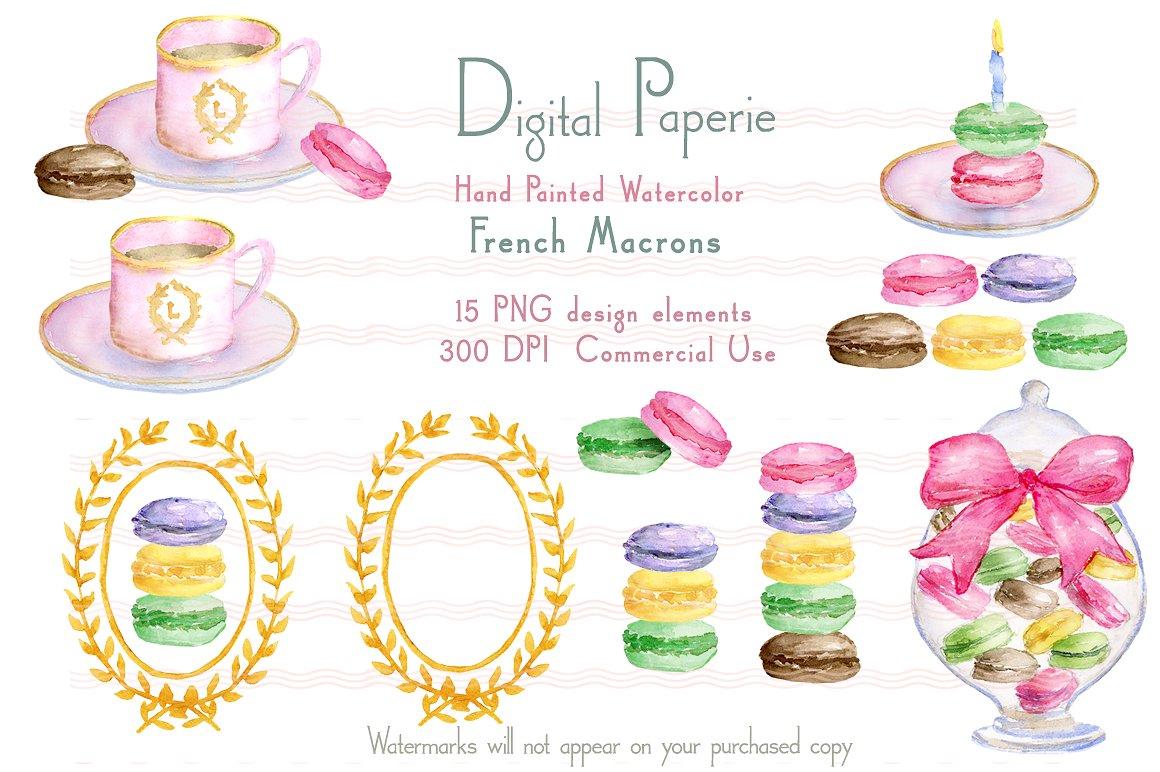 Macaron clipart french macaron Art Macaron  French Clip