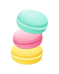 Macaron clipart french macaron Yellow Print Clipart for French