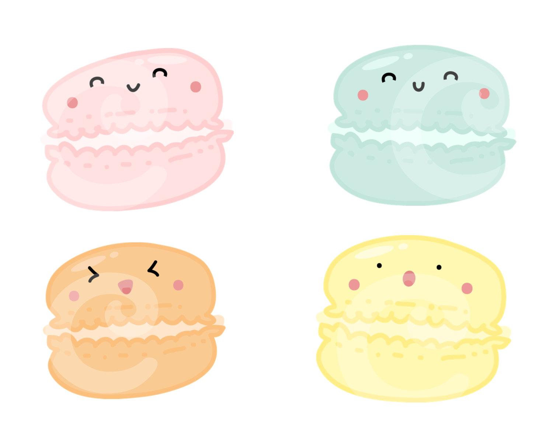 Macaron clipart stack Macaron Kawaii Clip Birthday Macaroon