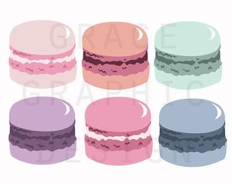 Macaron clipart macaroon Clipart Pink Clipart Clipart Set