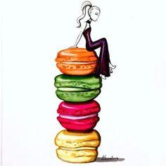 Macaron clipart macaroon French clip Illustrator clipart aaronfavaloro