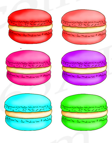 Macaron clipart macaroon Clip Macaroons a OFF digital