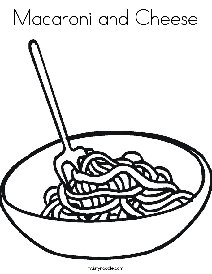 Macaroni clipart black and white Cheese Noodle and Macaroni and