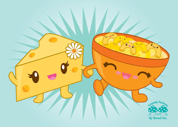 Macaroni And Cheese clipart kawaii $6 BoredInc food Print by