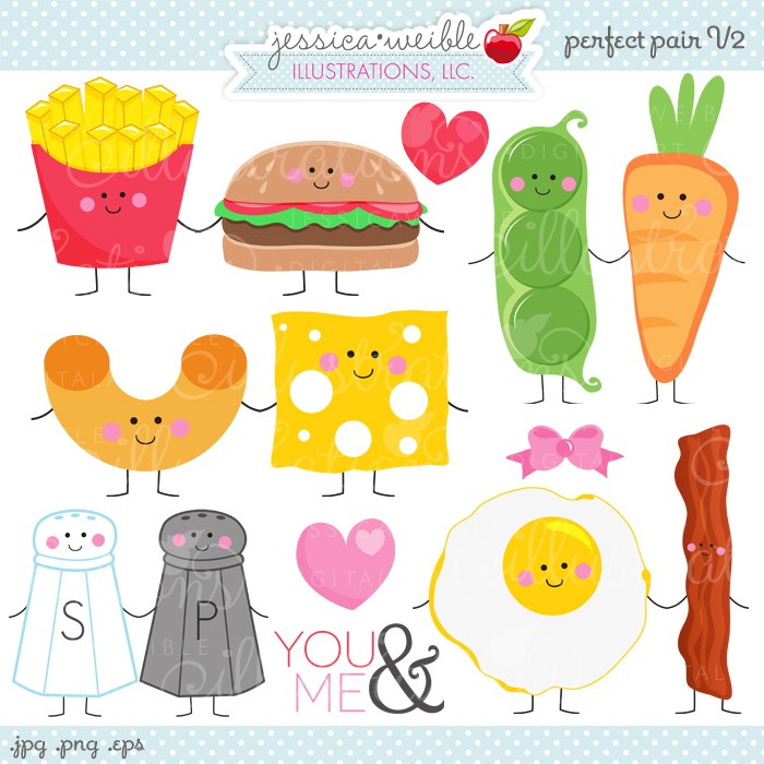 Macaroni And Cheese clipart kawaii Pair go  pairs things