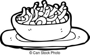 Macaroni clipart black and white Of Clipart Of clipartsgram Bowl