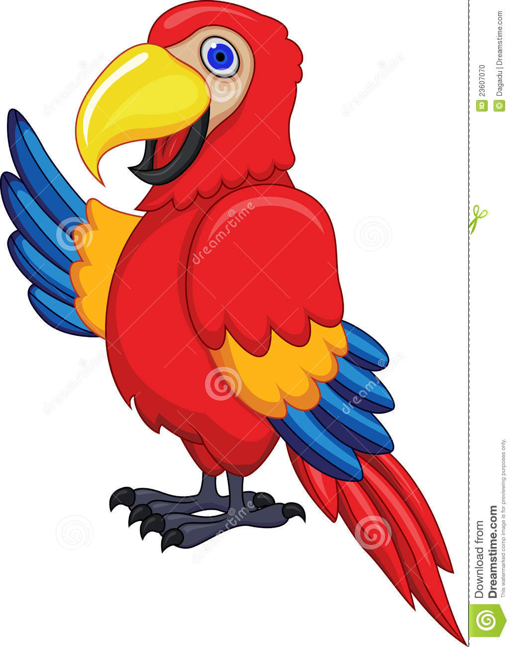 Scarlet Macaw clipart animated #5